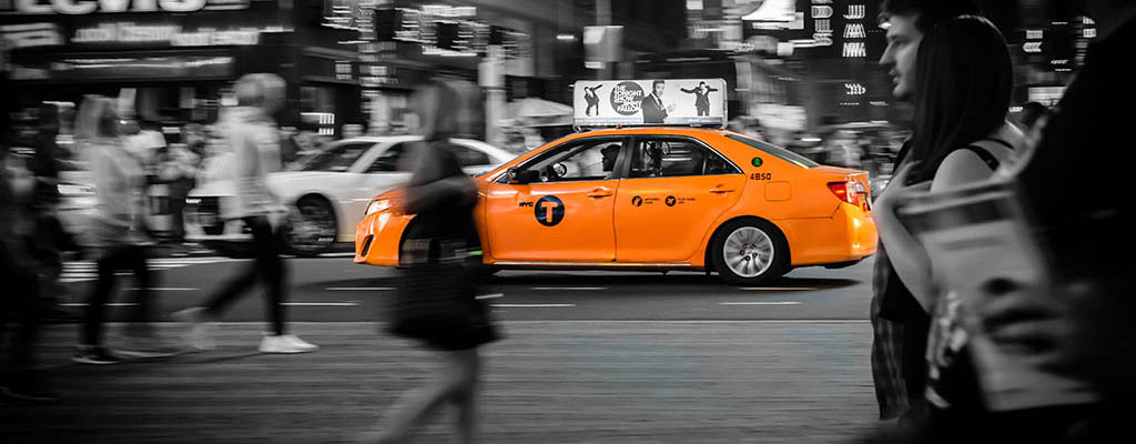 Times Square Taxi cab.